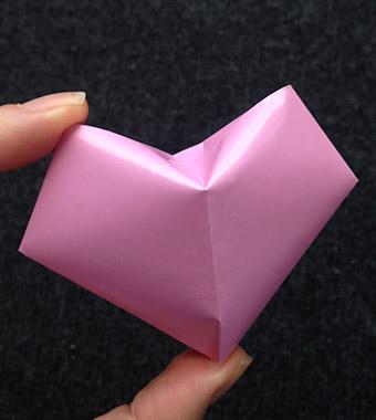 Valentinstag 3d Origami Herz Bastelanleitung